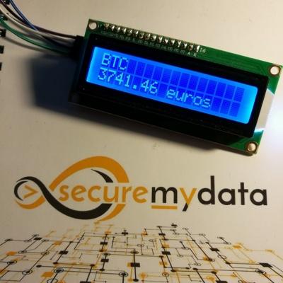 Suivre le cours du Bitcoin (mais pas que) avec un écran LCD