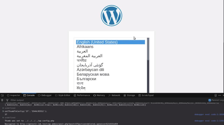 Faille non patchée dans le core de WordPress