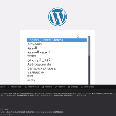 Faille non patchée dans le core de WordPress